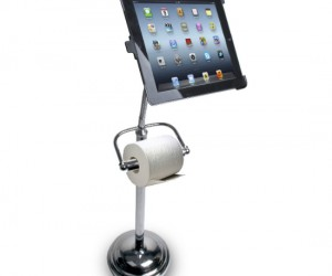 iPad Toilet Paper Holder Stand